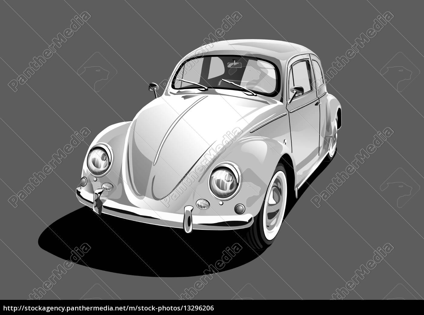 white, classic, car - 13296206