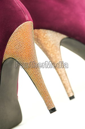 close up of high heels shoes