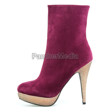 high heels ankle boots in red