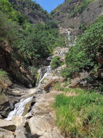 waterfall in sri lanka