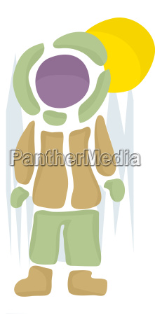 abstract winter person
