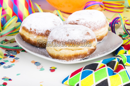 balloons donuts fritters icing sugar pastries
