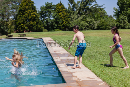 girls boy pool