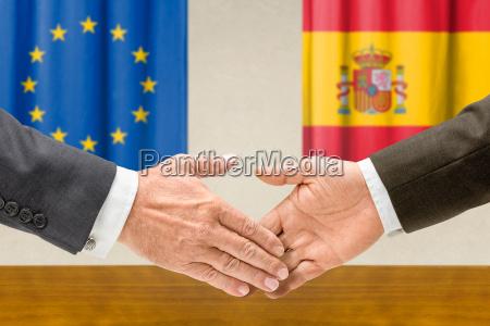 vertreter der eu und spaniens reichen