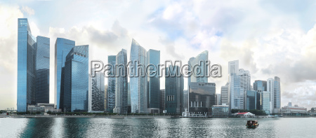 panorama von singapur downtown