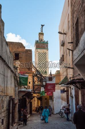 strasse in der alten medina von