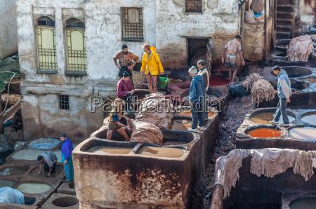 afrika leder marokko marokkaner ledern gerberei