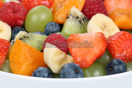 up fruit salad in a bowl