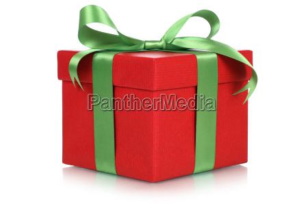 rote geschenk schachtel fuer geschenke an