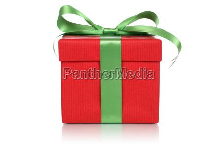 rotes geschenk mit schleife fuer geschenke