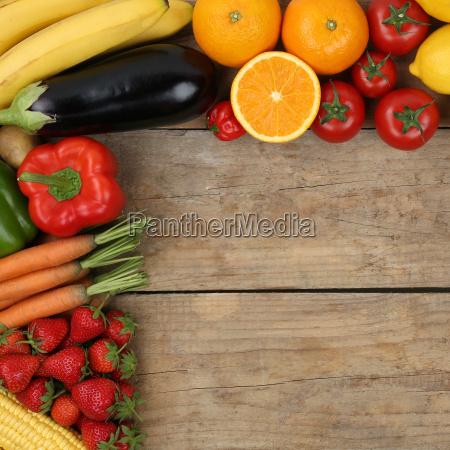 vegetarisch und vegan obst fruechte und
