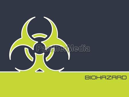 bio hazzard zeichen auf 2 farbe