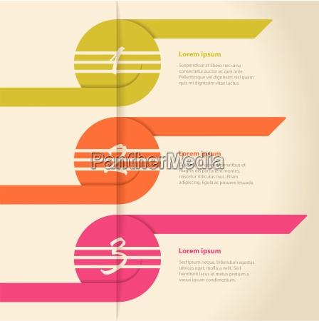 curling farbe pfeile infografik design