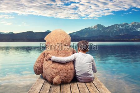 freundschaft sommer sommerlich steg teddy suesswasser