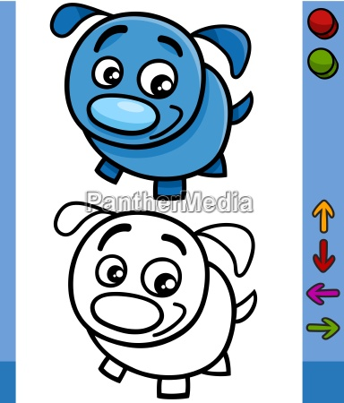 dog game character cartoon illustration