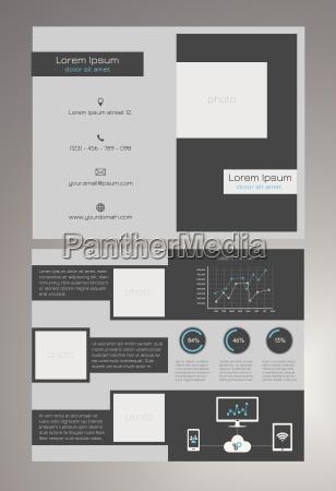 business bifold brochure template modern