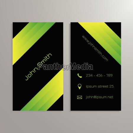 business card template black and