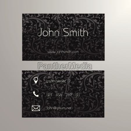 business card template in black and