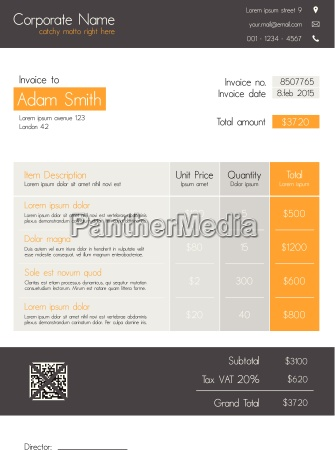 invoice template clean modern