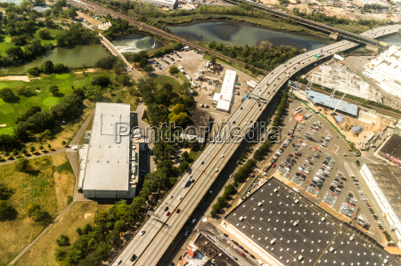 aerial view of queens borough new