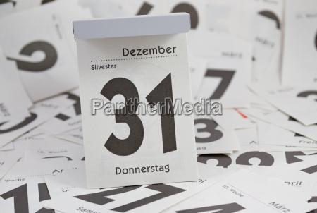 sylvester abreisskalender