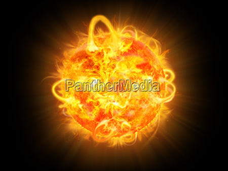 solar explosion illustration und raum fantasie