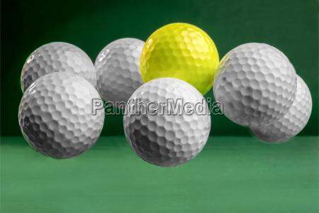 abgehaengte golfbaelle