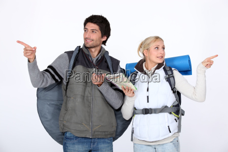 hiking couple lost