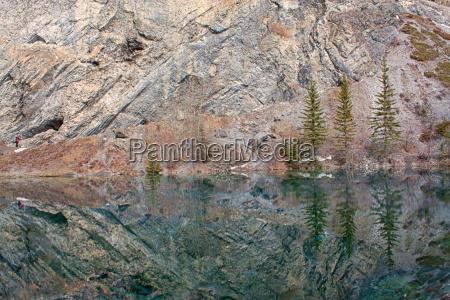 fahrt reisen berge reflexion kanada reflektion