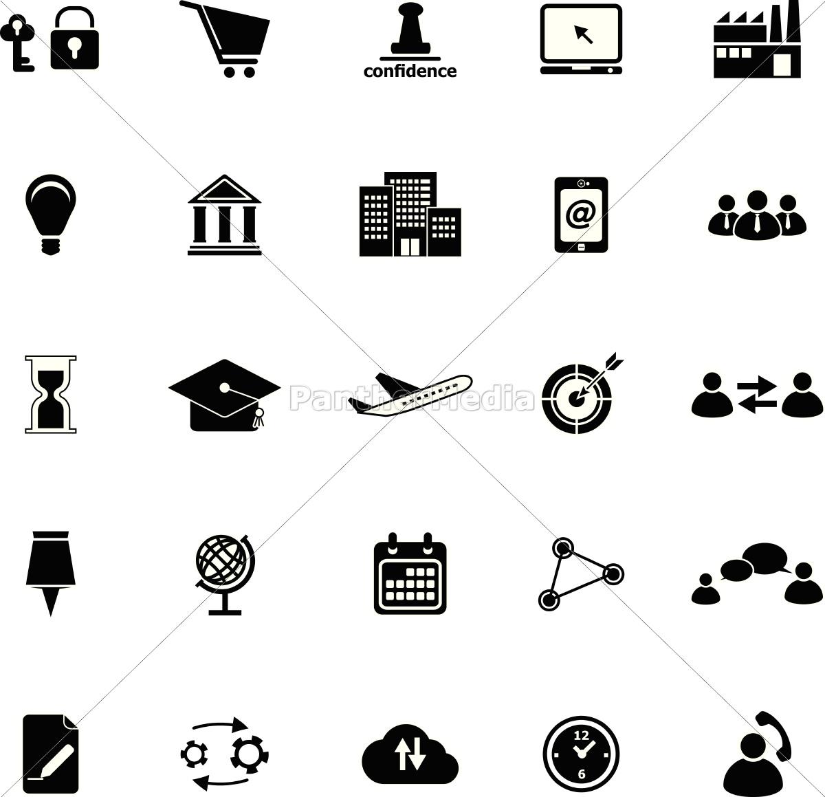 business-verbindung symbole auf weißem hintergrund - Stock Photo ...