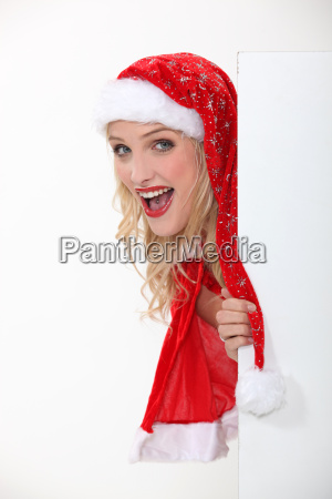 girl in a santa costume and