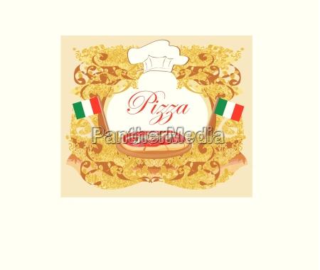 pizza menue vorlage vintage karte