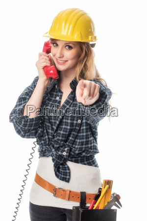 female artisans on the phone