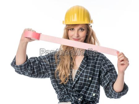 handwerker, mit, klebeband - 13385974