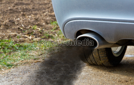 exhaust with exhaust gases