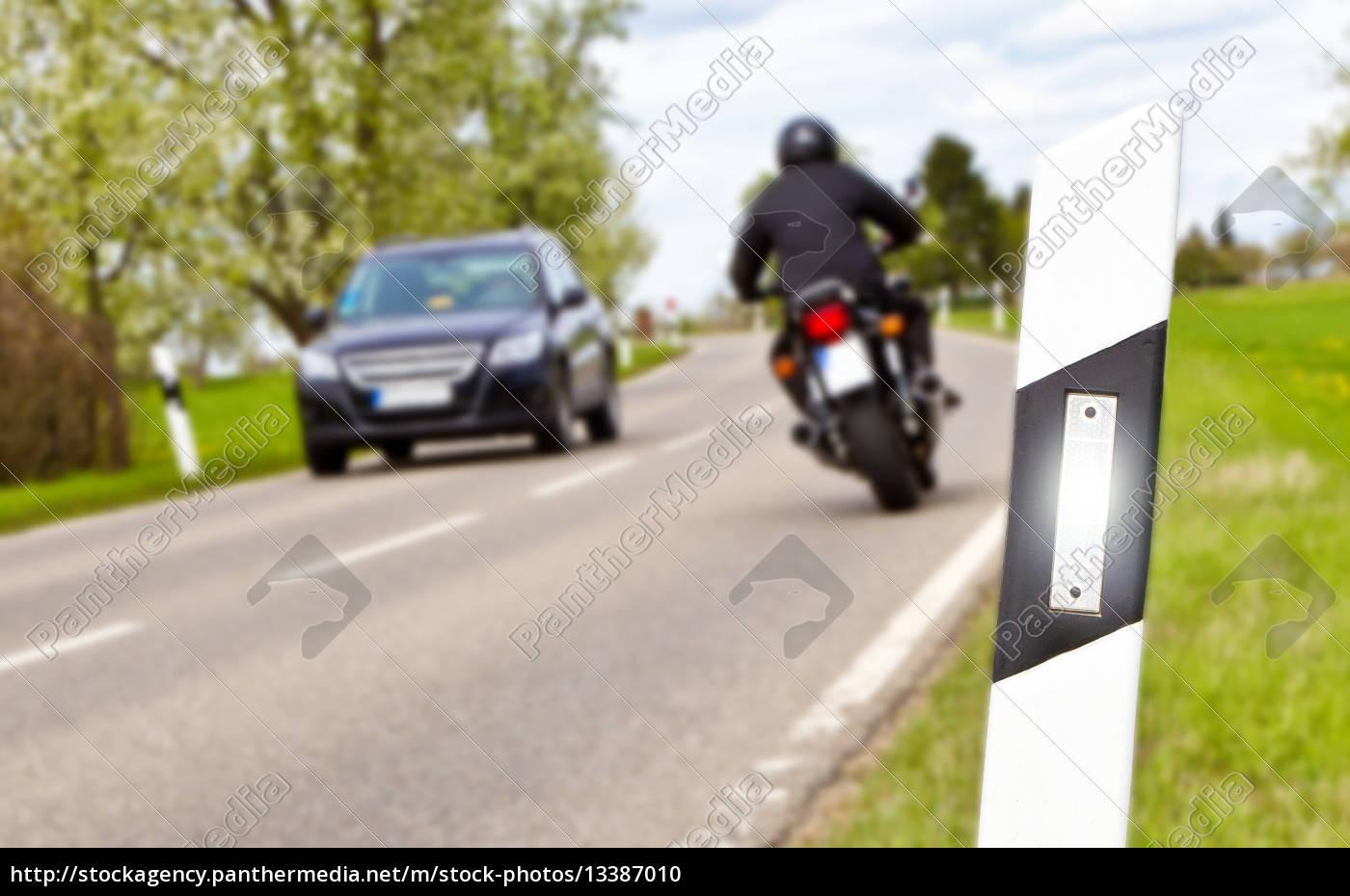 motorrad, fahren, -, fokus, auf, den - 13387010