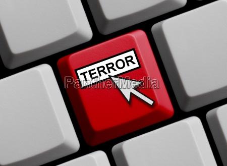 computer keyboard terror