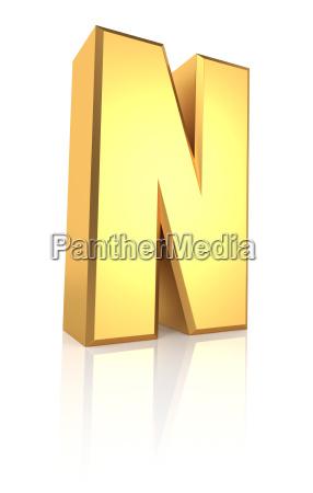 freisteller golden metall abgeschieden buchstabe brief