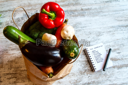 buying vegetables and fruits