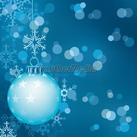blue christmas ball background