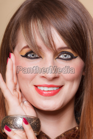 frau kultur mode weiblich gesicht portrait