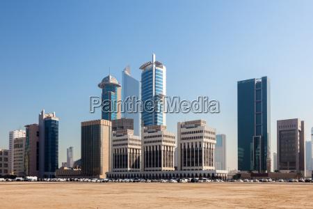 hochhaeuser in kuwait stadt mittlere osten