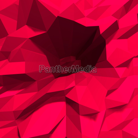 abstract low polygon red crystalline background