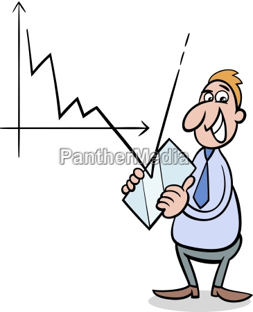 wirtschaftskrise cartoon illustration