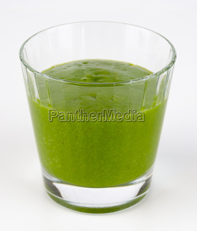 green smoothie glass