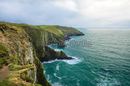 irische landschaft kueste atlantic coast county