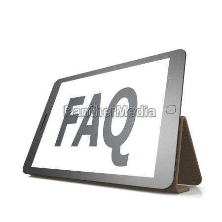 faq auf dem tablet