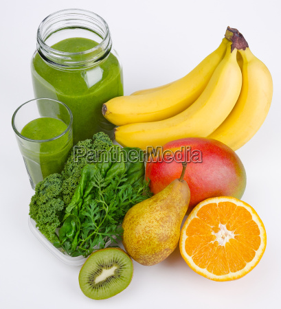 green smoothie with three greens and