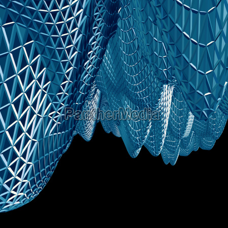 abstract 3d blue net cloth background