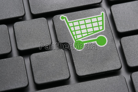 keyboard green einkaufswagen
